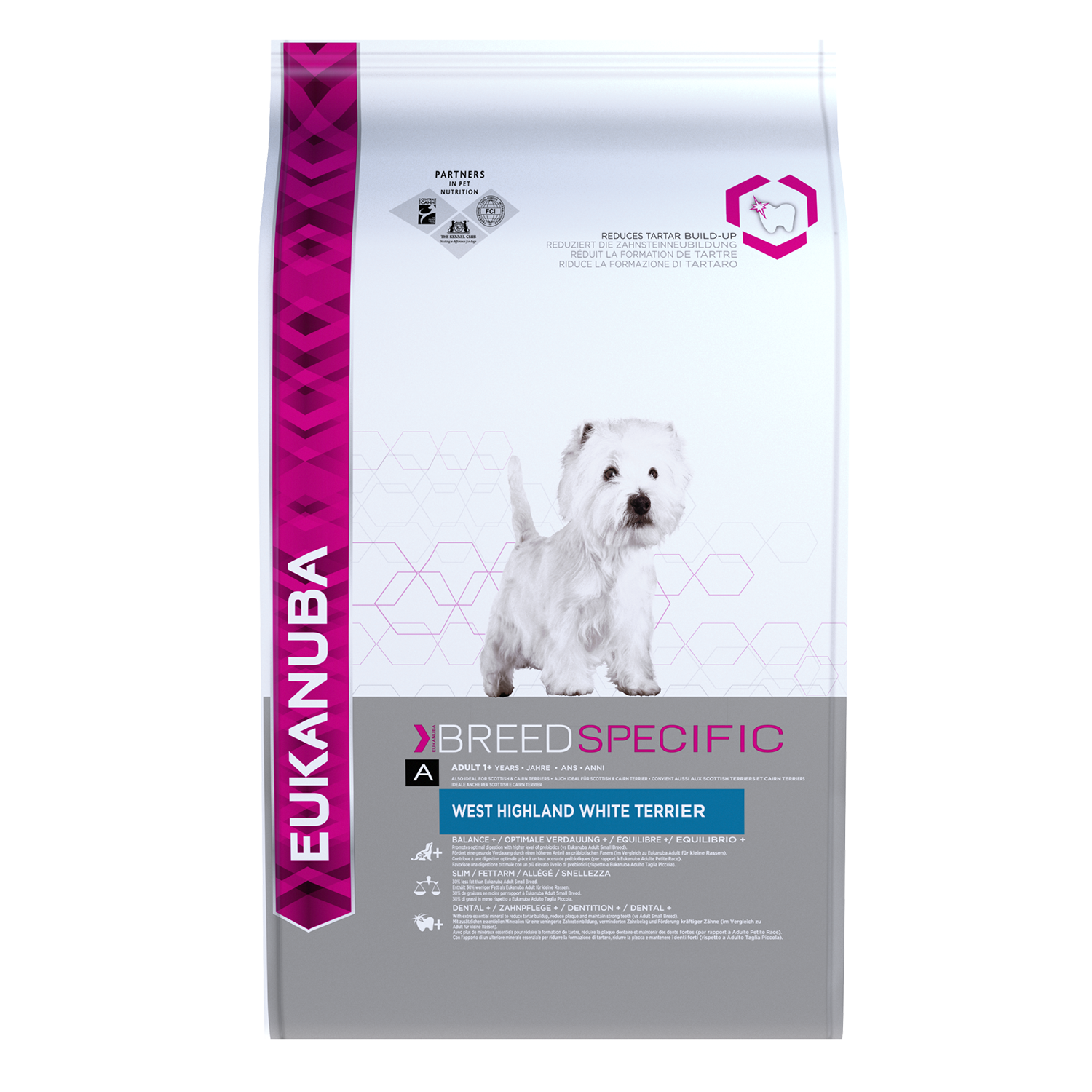 EUKANUBA Adult Dry Dog Food West Highland White Terrier Chicken RTP FOP